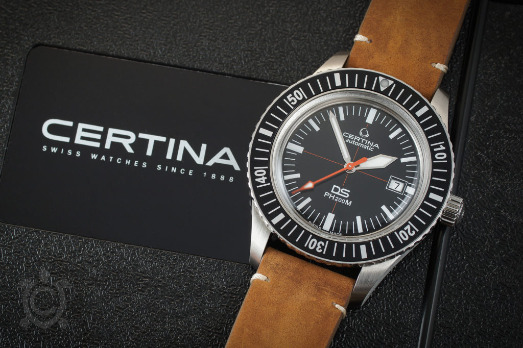 Certina DS PH200M with leather strap